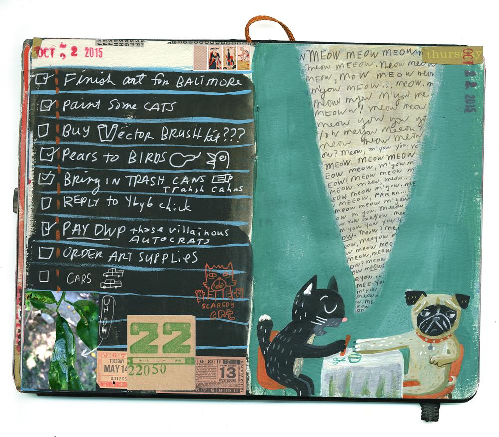 Black-cat-a-day 22: Chatty Zelda
