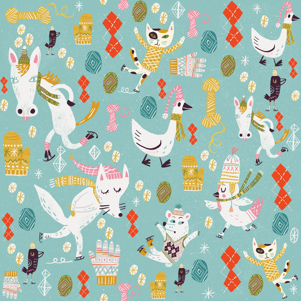 Woolens, a fabric and gift wrap design on Spoonflower