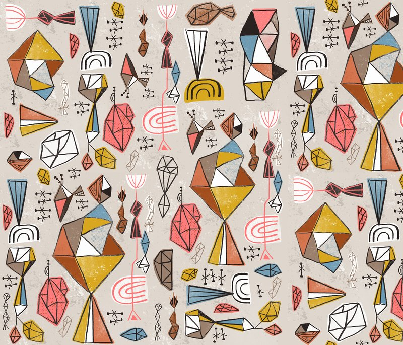 "A fabric design for the current Spoonflower Design challenge on the theme of ""Geodesic"""