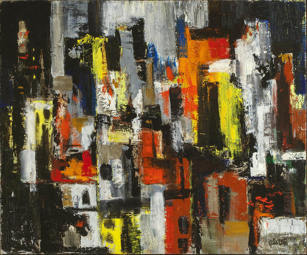 Charles Alston | Untitled (Cityscape at night)