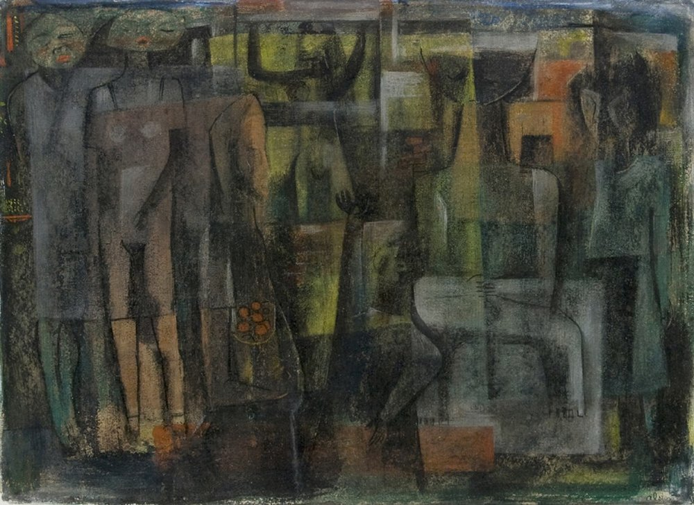 Charles Alston | Untitled (Abstract Figures) Works on Paper | Circa 1949