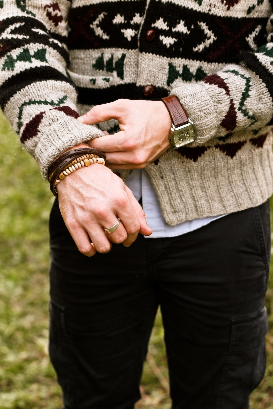 Zac Chambers Brothers and Craft Thrift Ralph Lauren Cardigan