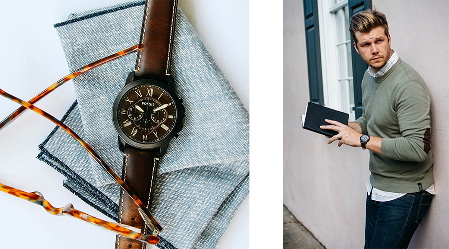 Fossil Fall Catalog Watch and Messenger Bag Brothers and Craft
