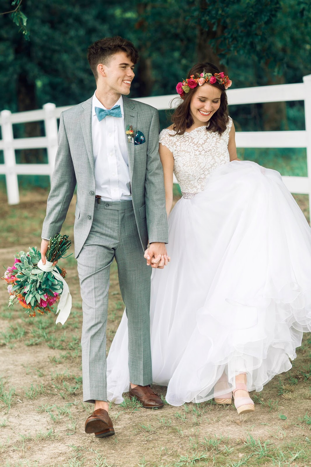 John Luke and Mary Kate Robertson at the Duck Dynasty Wedding on A&E and US Weekly