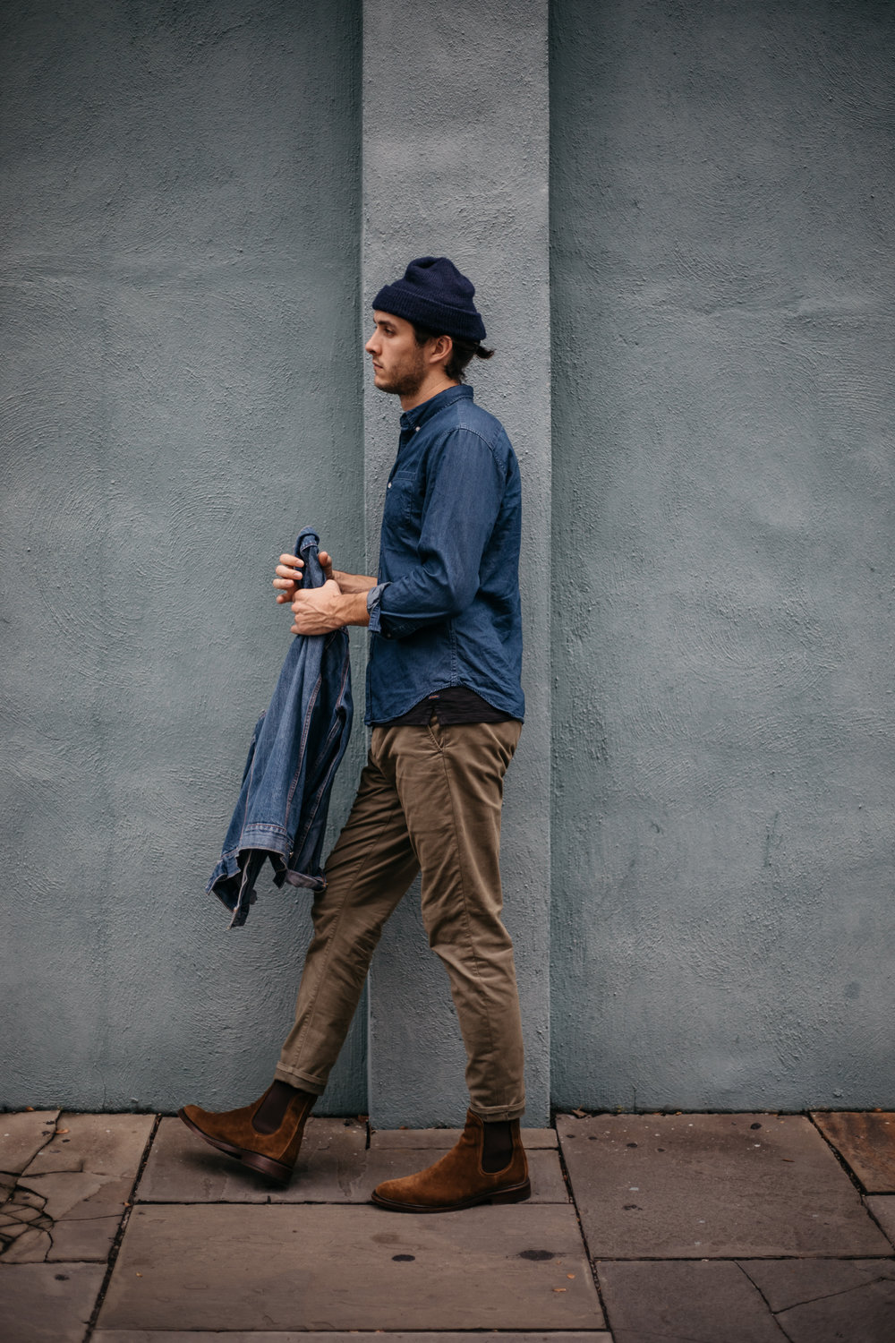 Clay's Look - 01. The Good Man Brand Polo 02. Rag & Bone Chinos