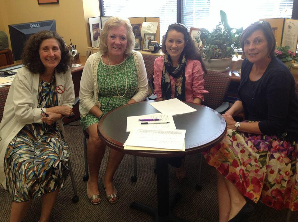 Gaby with staff at CVIM