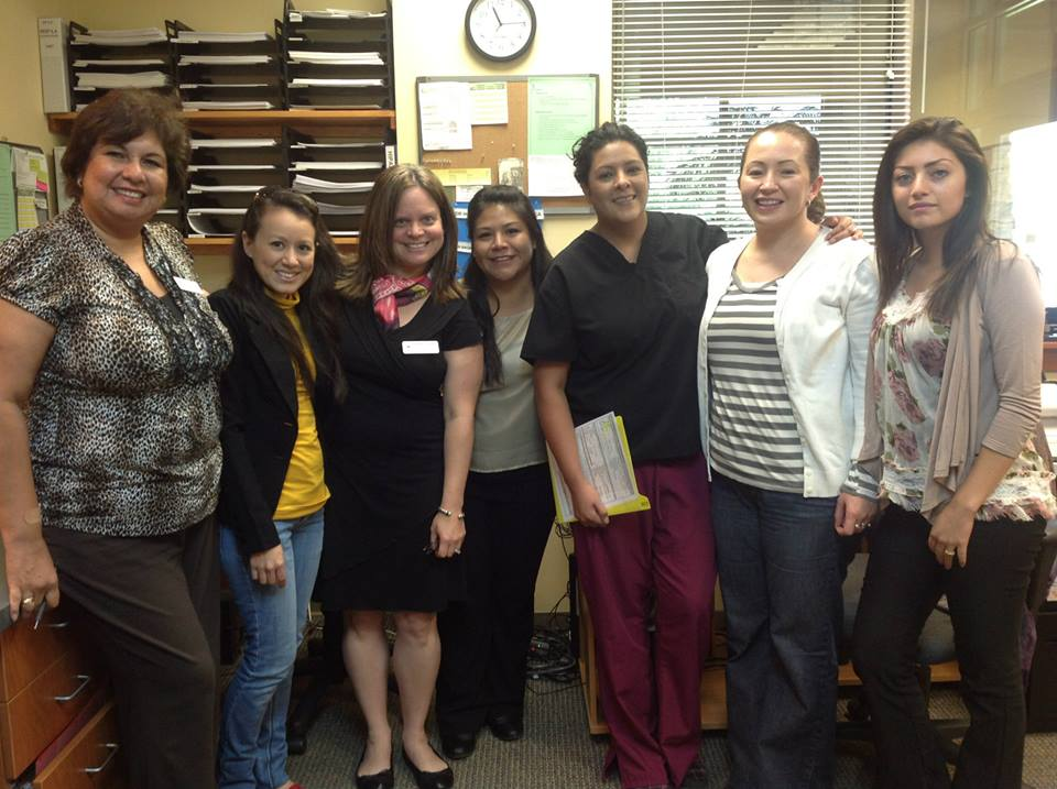 Gaby with Staff at Summit County Community Care Clinic