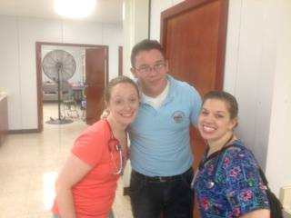 And, thank you to the those students from the Millenium Bi-Lingual School who helped us all week with the Spanish translations. Jorge Omar is pictured here with Dr. Karen Ephlin and nurse Kara Ohara, but we can't forget Luis Andres and Ever Josue and their teacher Luis Handal.