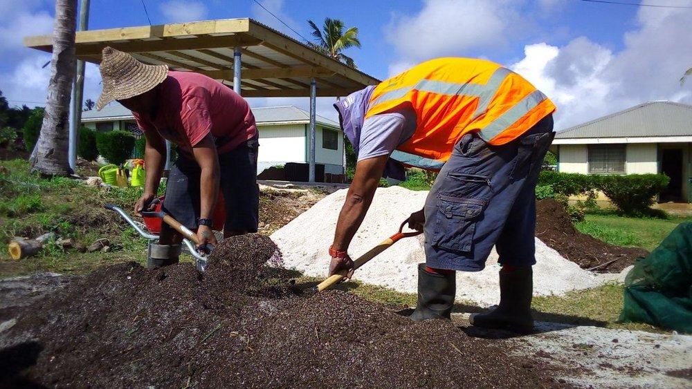 Preparing garden beds