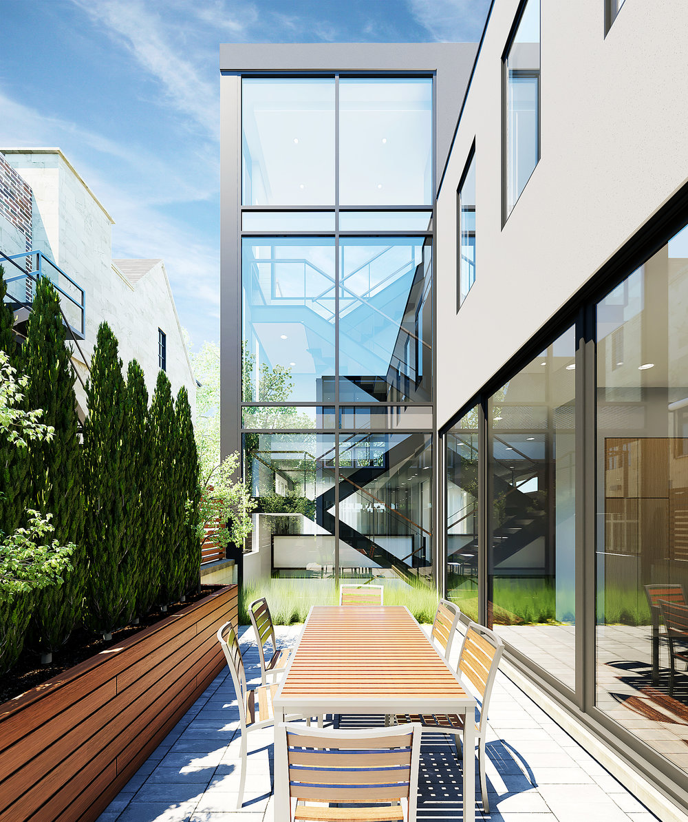 Side Courtyard rendering