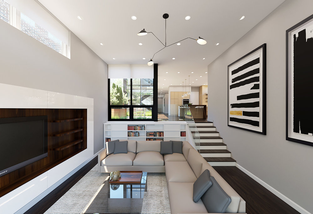 Family Room rendering