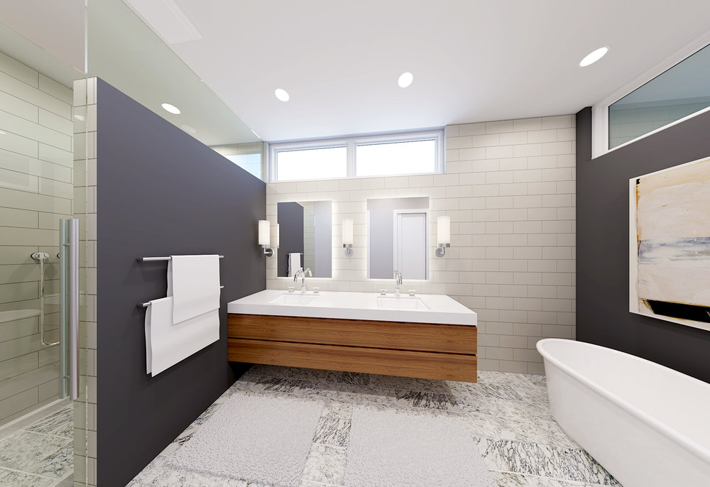 Master Bath rendering