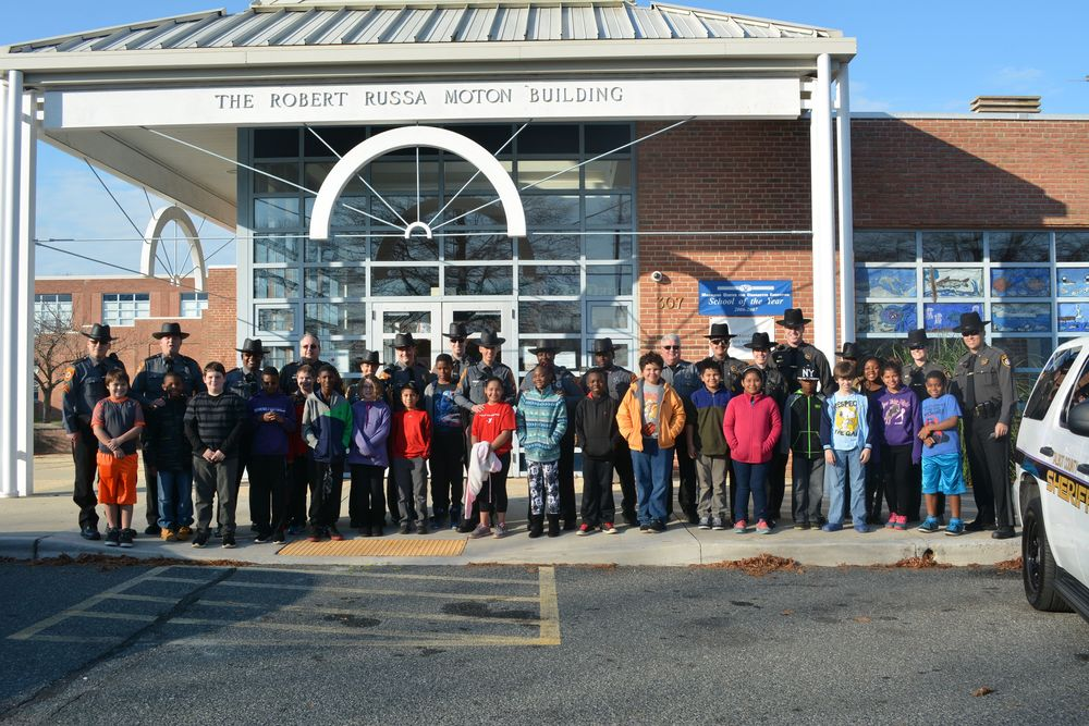 Twenty local school children were given the chance to buy gifts for family members at Wal-Mart in Easton.