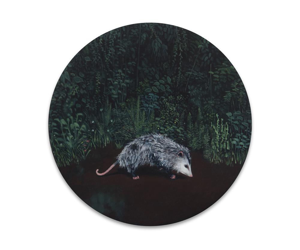 Maleza 4 , 2012, Oil on wood, 21 x 21 cm