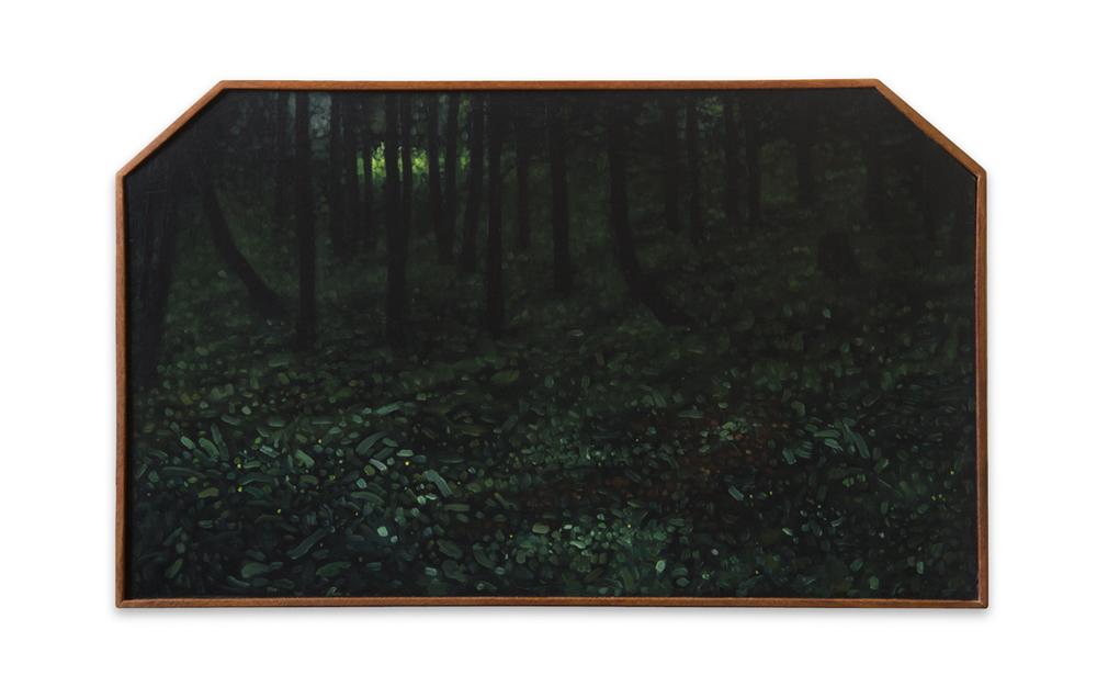 Maleza 8 ,  2012, Oil on wood, 27 x 44 cm