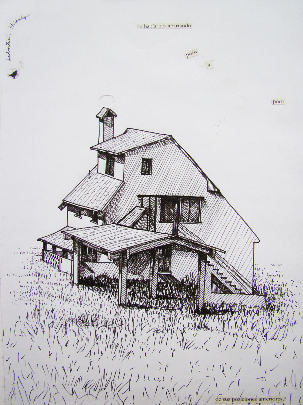 El zopilote ausente ,   2009, Ink on paper, 27,5 x 20 cm