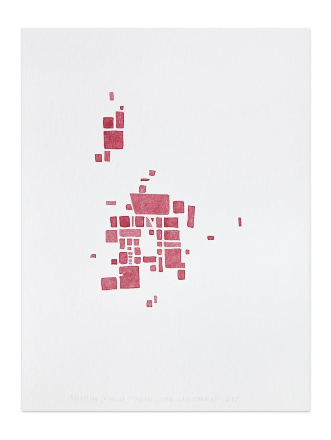 Costras (laca granza 6), 2012, Watercolor on paper, 32 x 24 cm