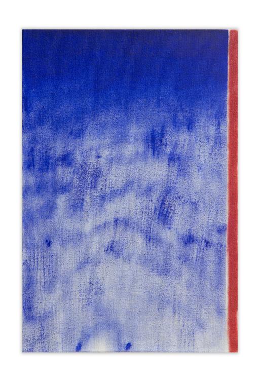 Bluered, 2012, Oil on canvas, 22 x 15 cm