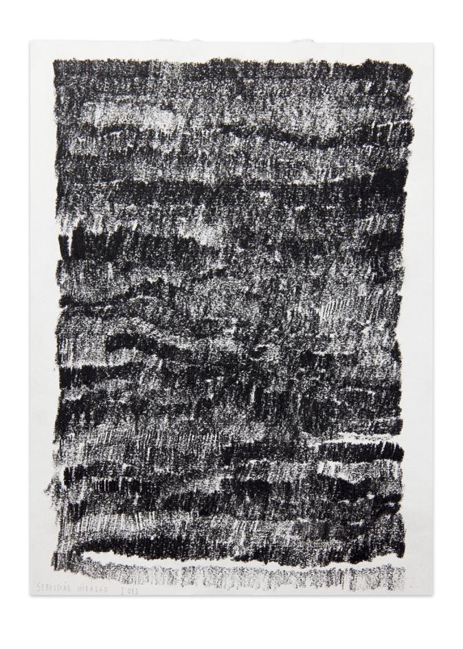 De carbón 1 , 2012, Charcoal on paper, 30,5 x 22,9 cm