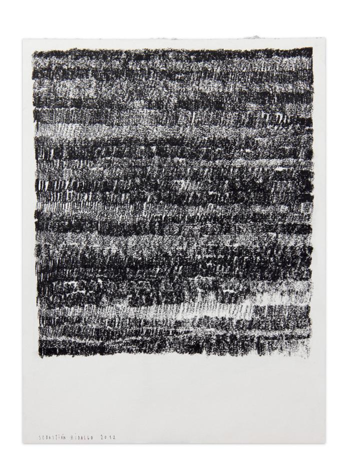De carbón 2 , 2012, Charcoal on paper, 30,5 x 22,9 cm