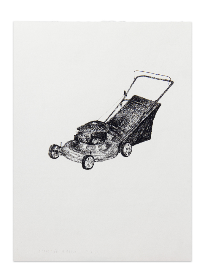 Podadora , 2012, Charcoal on paper, 30,5 x 22,9 cm