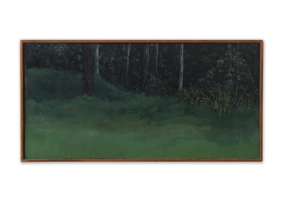 Maleza 2 ,  2012, Oil on wood, 21 x 41 cm
