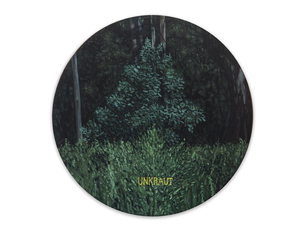 Maleza 6 , 2012, Oil on wood, 31 x 31 cm