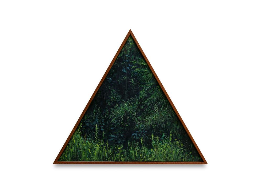 Maleza 3  , 2012, Oil on wood, 23 x 26 cm