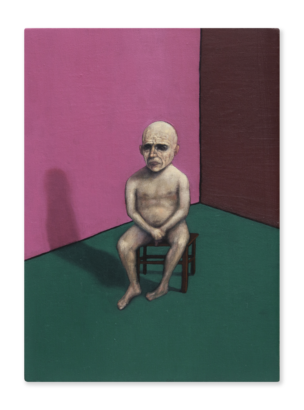 Chaneque melancólico,  2015, Oil on canvas, 30 x 22 cm