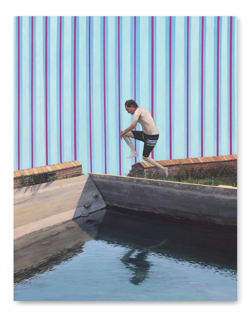 El Refugio ,  2016, Oil on canvas, 140 x 110 cm