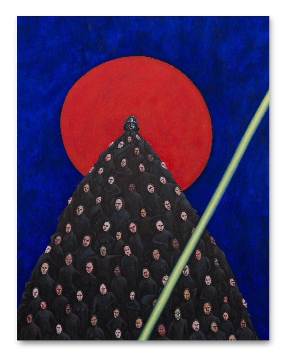 Jerarquía al atardecer ,  2016, Oil on canvas, 140 x 110 cm