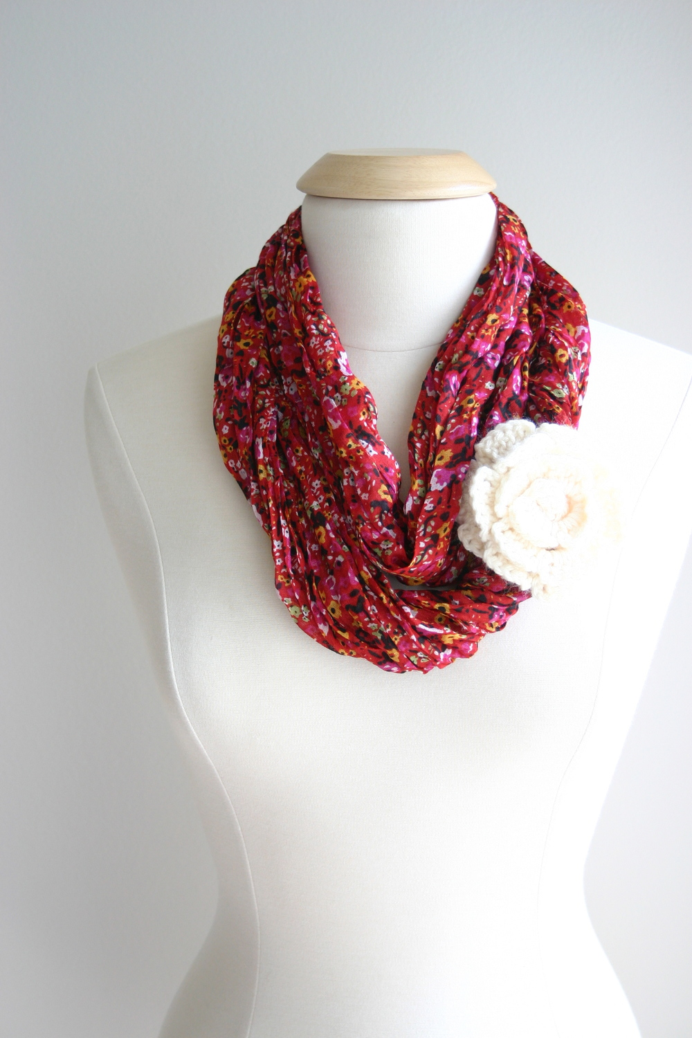 turn your scarf into an infinity scarf without sewing