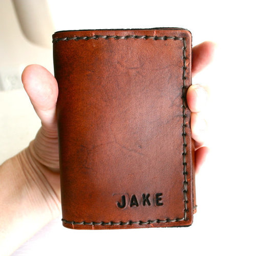 leather trifold wallet with custom initials or name justjaynes