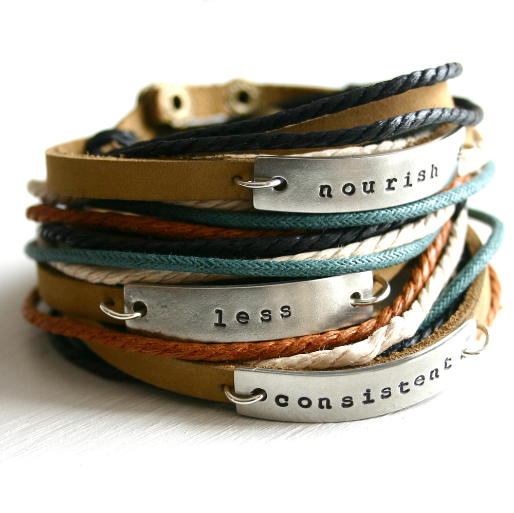 Word of the Year leather wrap bracelet