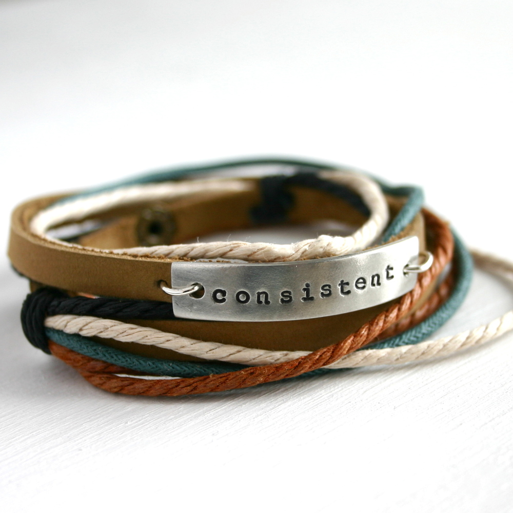 Consistent Leather Wrap Bracelet