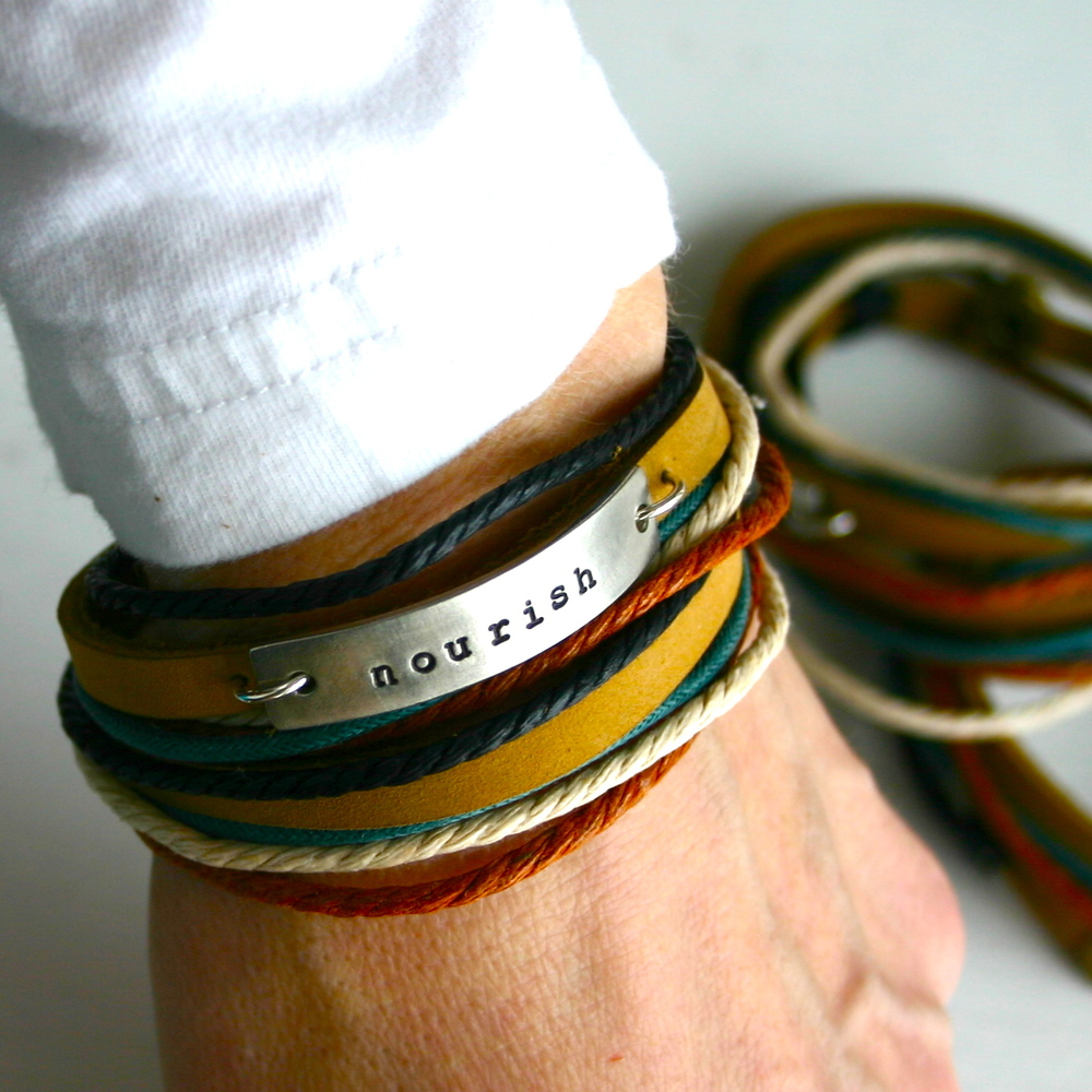 Nourish Leather Wrap Bracelet
