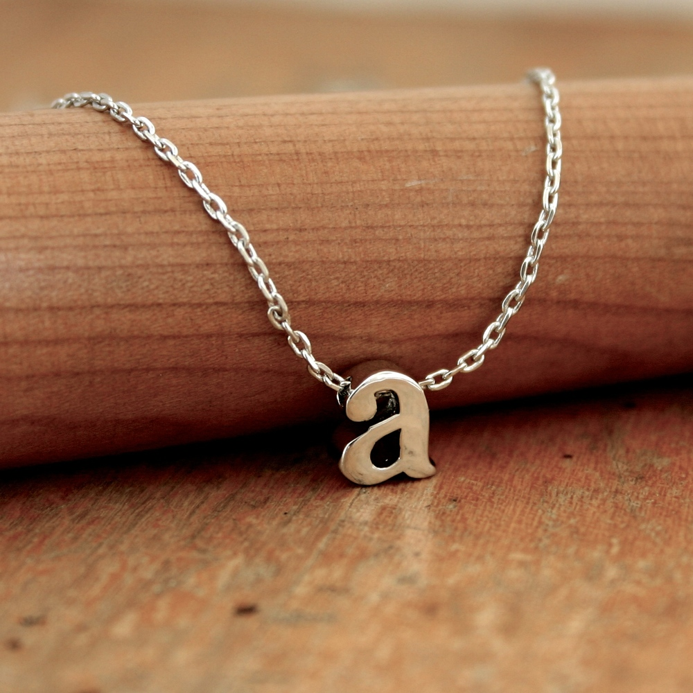Small Initial Slide Necklace. $14.99