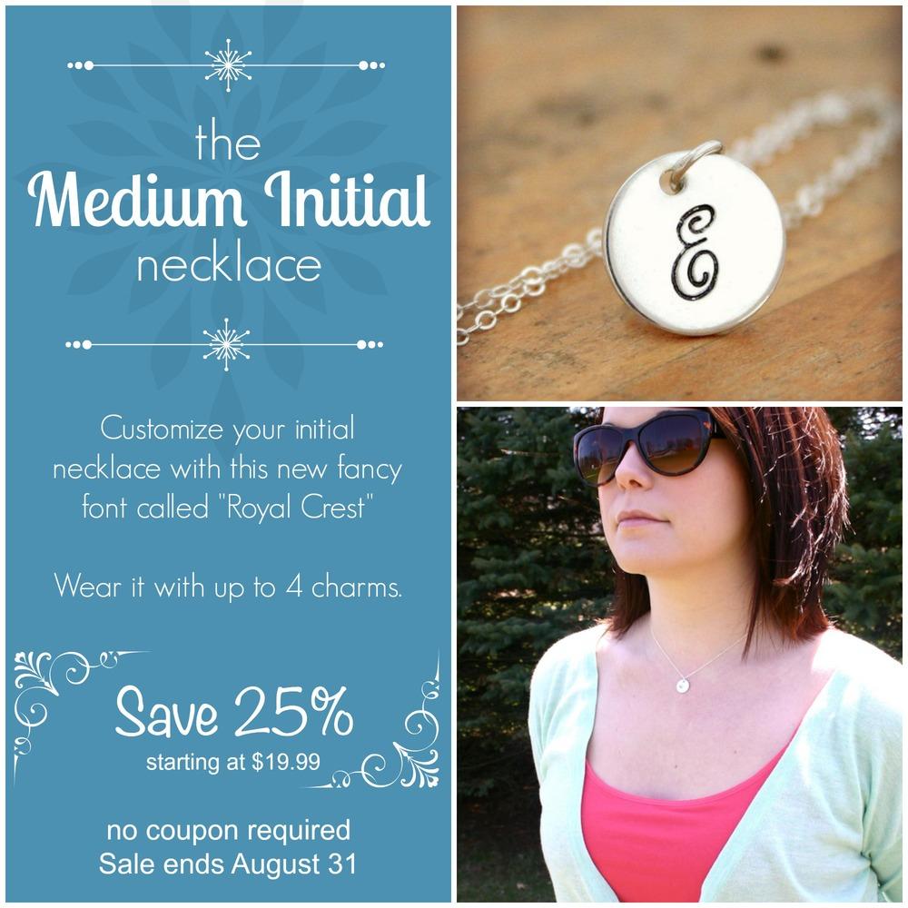 Medium Initial Necklace