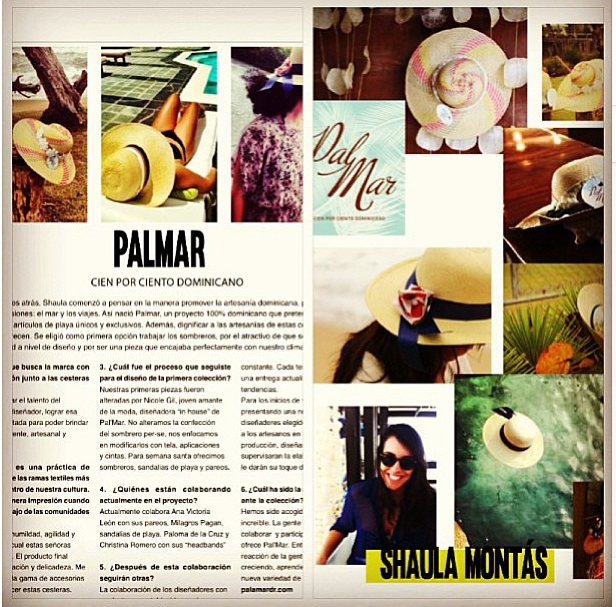 Mention in PalMar DR's interview with Blush Magazine in the Dominican Republic. More info at @blush_magazine