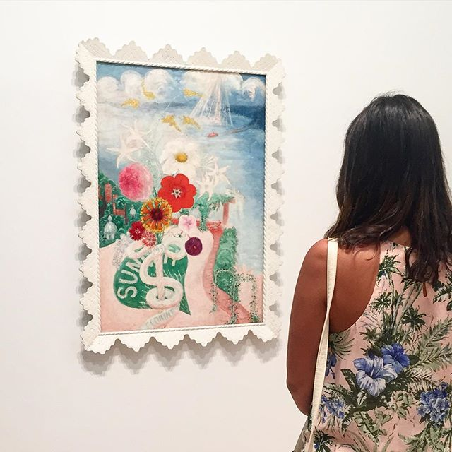 Flower (art) Love 🌺❤️🌸 #heartshapehotel #flowercrowns #flowerlover #flowerdress #art #whitney #museum