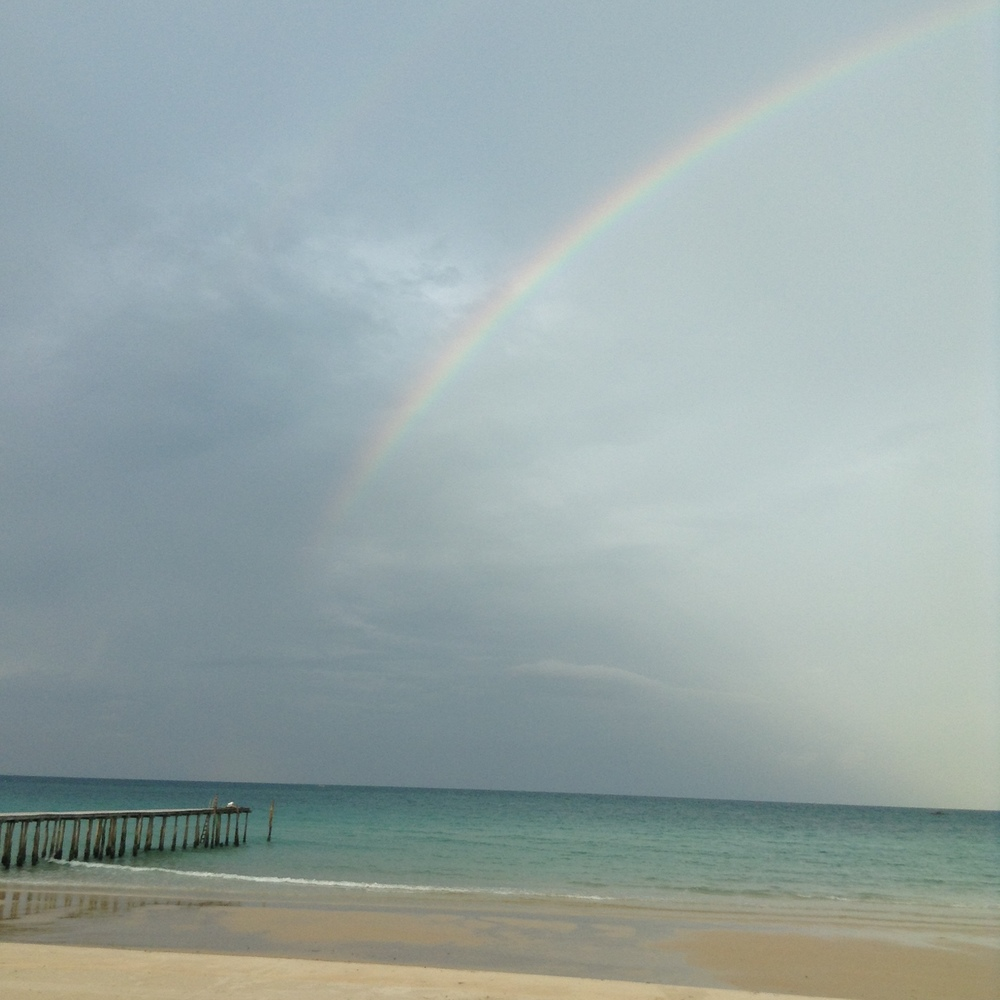 Dockside Rainbow in Koh Rong Samloem, Cambodia