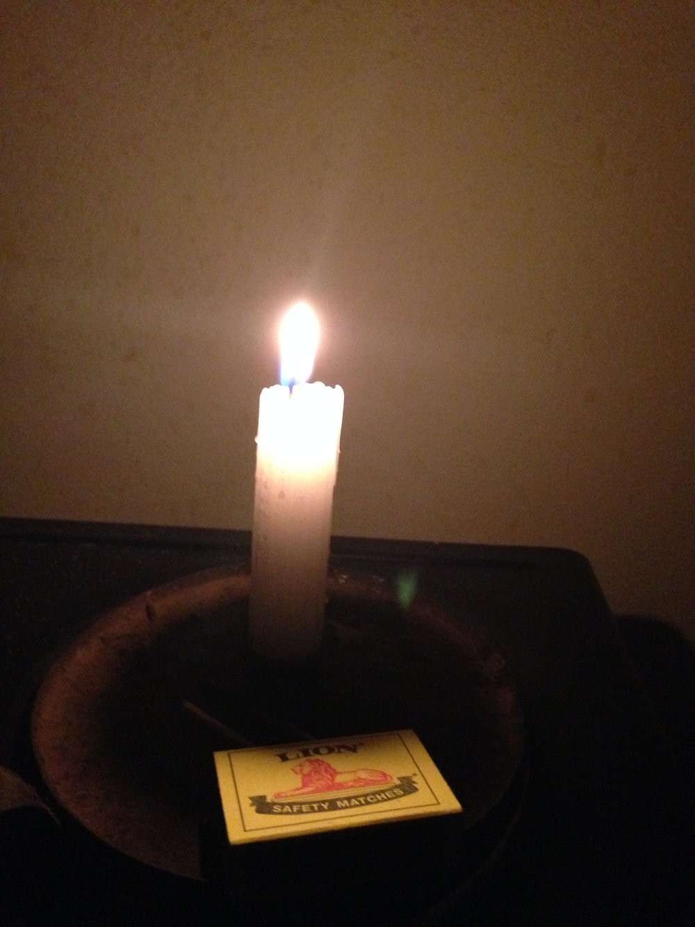 Illumination  - A gifted candle during a power outage from my Host Mama, KZN, South Africa