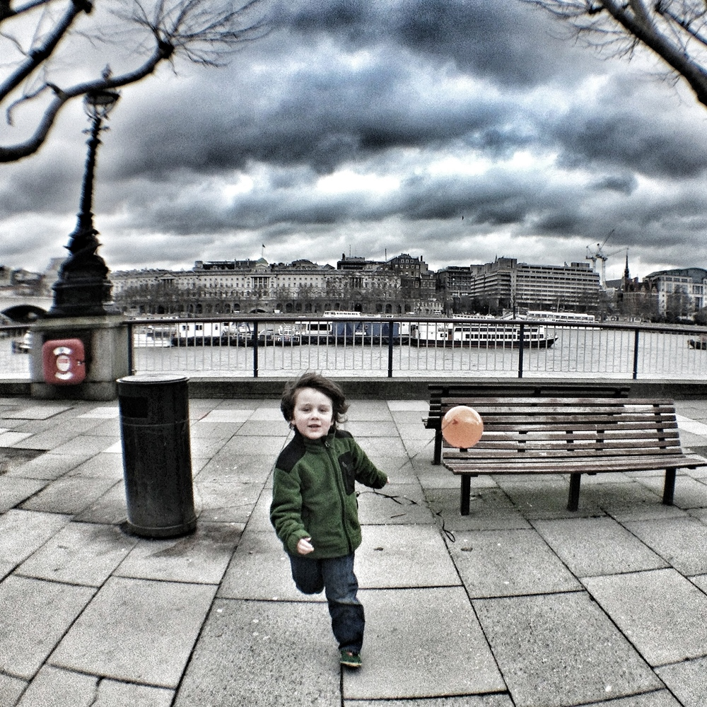 Happiness is...a balloon in the park. South bank, London
