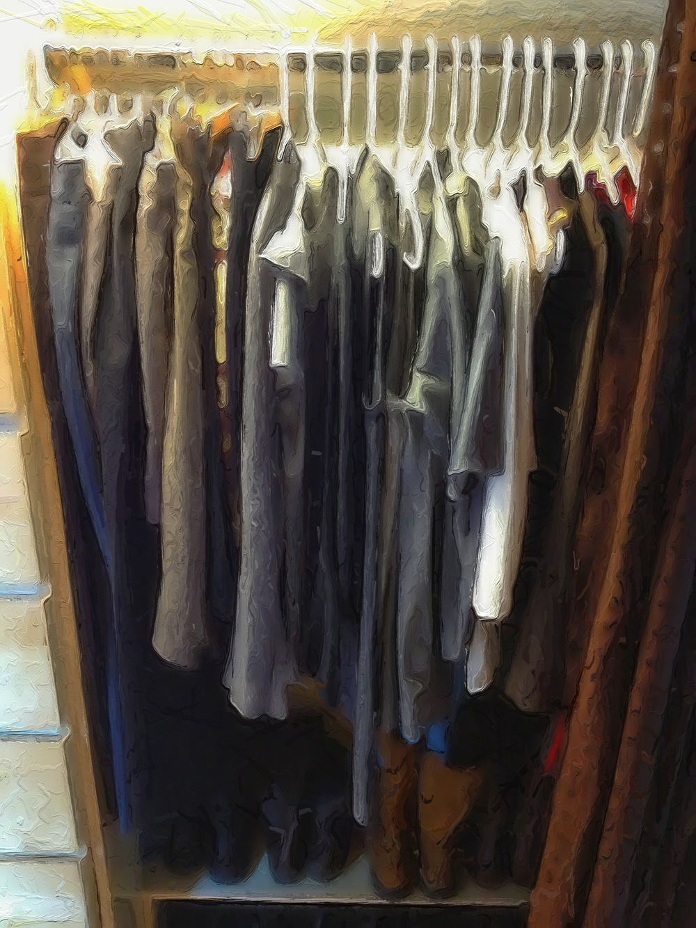 My pared down closet. Do I need an OCD intervention?