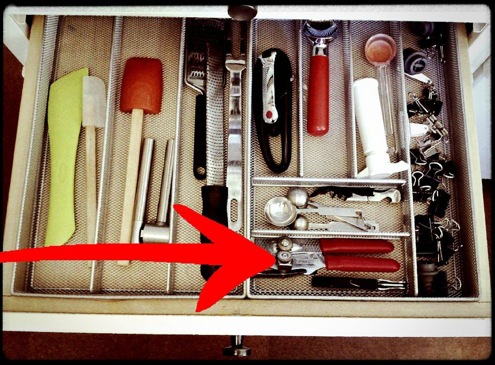 Ack! can you spot the redundant can opener?
