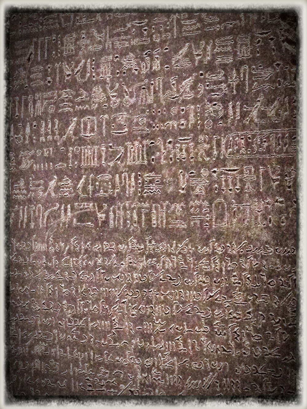 The Rosetta Stone, up close and personal
