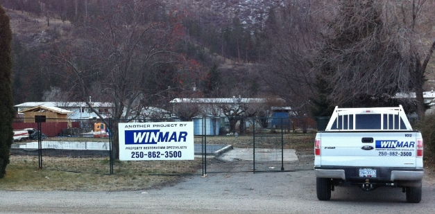 WINMAR property restoration worksite in Kelowna