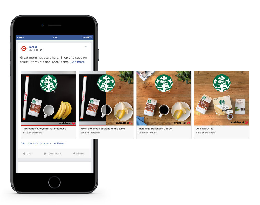 Facebook Carousel - From check out to the breakfast table