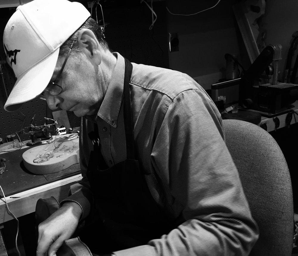 Allen Wyatt in workshop