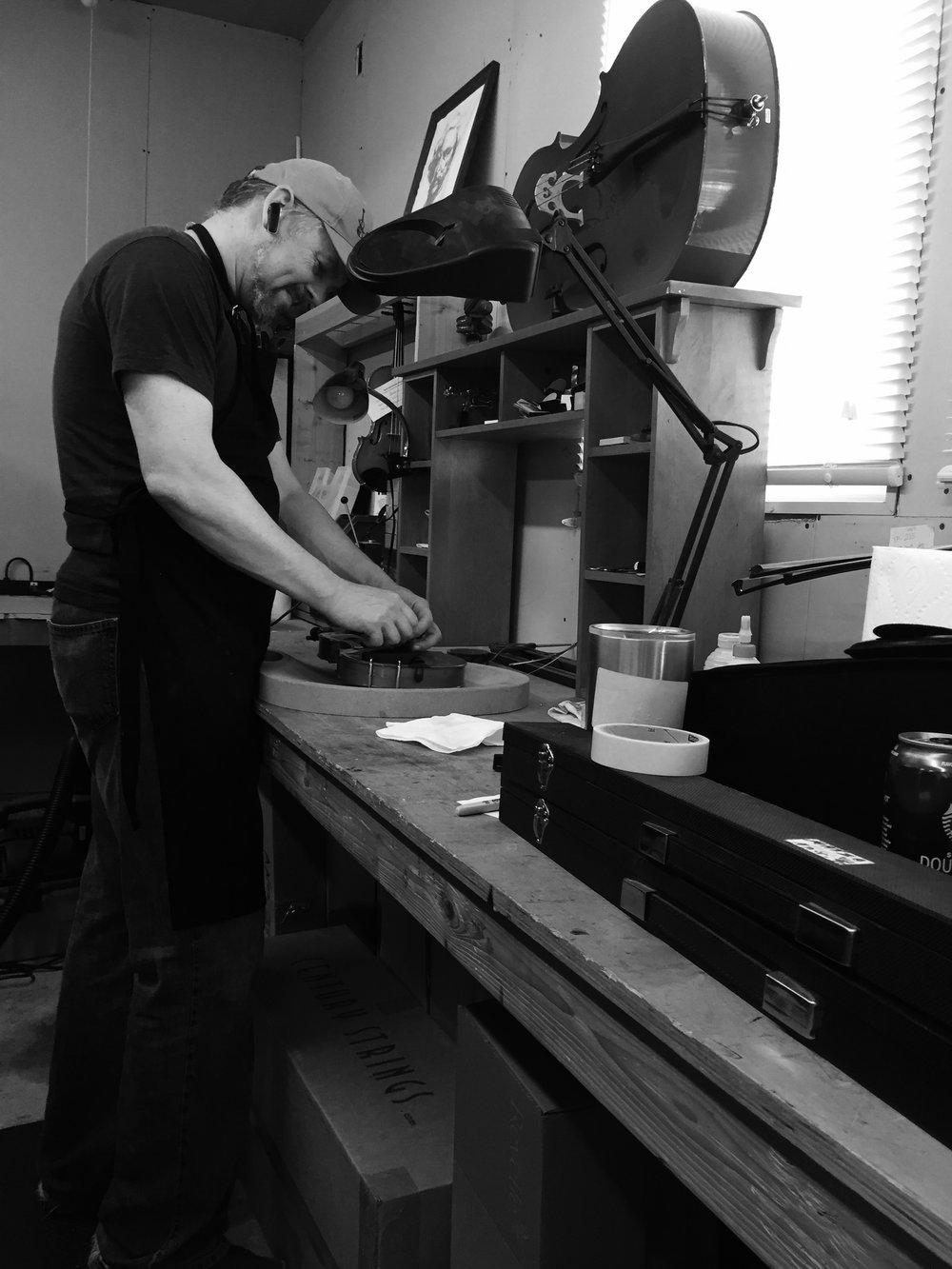 Heath Tietjens in workshop